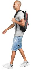 Portrait of a Male Student with Backpack