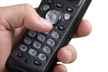 Hand Dialing a Number on a Wireless Telephone