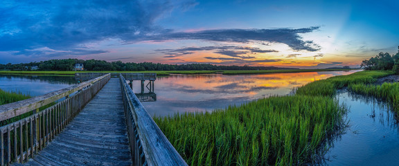 Marsh Channel Pier Sunrise 1