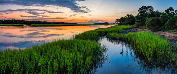 Marsh Channel Sunrise