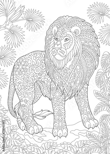 Coloring Page Book Colouring Picture With Lion