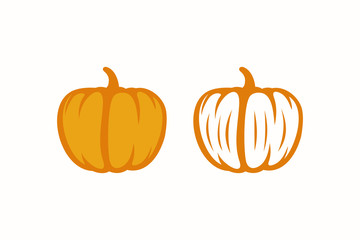 pumpkin icon symbol vector illustration