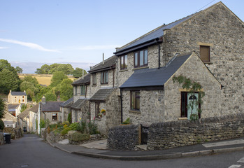 Quiet Street of Stone English Cottages