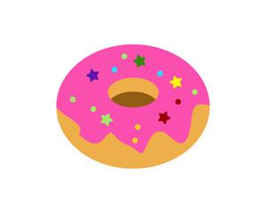 pink donuts image vector icon logo
