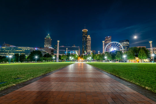 Blue Hour from the Centennial Olympic Park