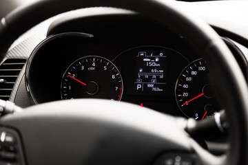 Closeup of Dashboard in a Car