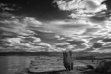 Evening clouds over the Andes;  Patagonia;  Argentina;  South America