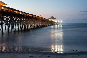 Early morning at Folly Beach Pier