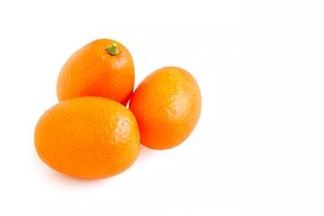 Fresh Juicy Kumquat on White Background