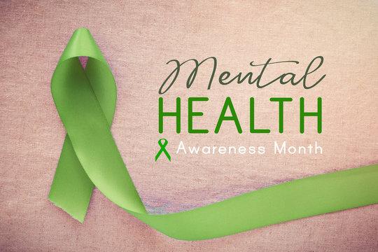 Lime GreenRibbon, Mental health awareness month