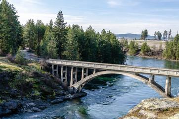 Old Bridge Spanning the Spokane River