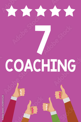 Handwriting text 7 Coaching  Concept meaning Refers to a number of