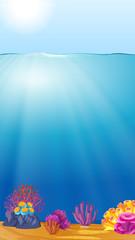 Beautiful deep ocean template