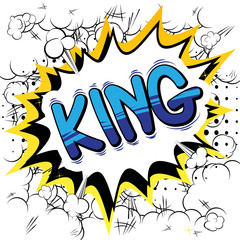 King - Vector illustrated comic book style phrase.
