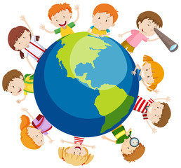 Children over the globe