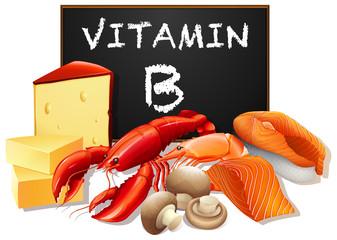 A set od vitamin B food
