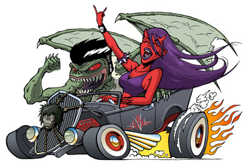 Monster Hot Rod with Driving Demon Girl