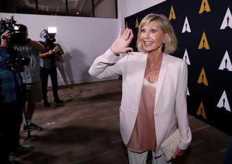"""Cast member Newton-John attends a 40th anniversary screening of """"Grease"""" at the Academy of Motion Picture Arts and Sciences in Beverly Hills"""