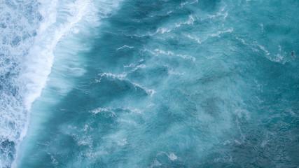 Aerial: ocean surface waves view Wall mural