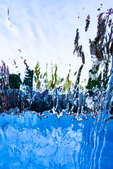 water jet as background