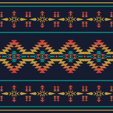 Native southwest american, indian, aztec, geometric seamless pattern.