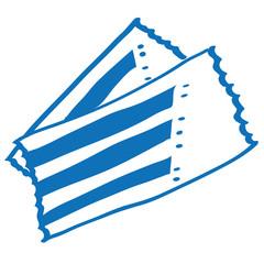 Handgezeichnete Eintrittskarten in dunkelblau