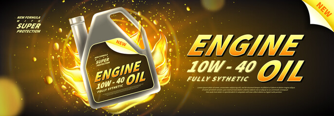 Engine oil advertisement background