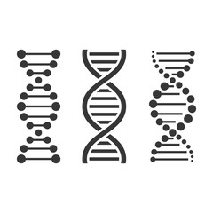 DNA Icons Set on White Background. Vector