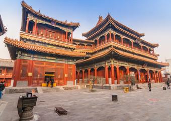 Poster de jardin Pekin Main builings of the Yonghegong Lama temple complex in Beijing, China