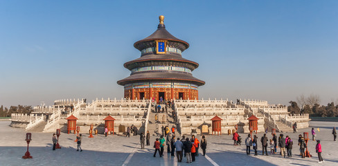 Poster Peking Panorama of the temple of Heaven in Beijing, China