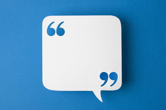 speech bubble on blue background