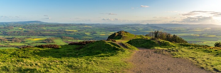 View from the Wrekin, near Telford, Shropshire, England, UK - looking south over Little Hill towards Eyton