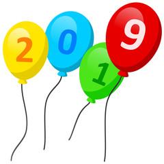 Luftballone mit Jahreszahl