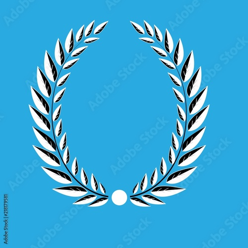 Laurel Wreath Reward Modern Symbol Of Victory And Award Achievement