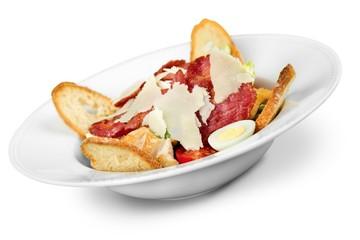 Caesar Salad isolated on white