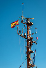 Navigational equipment in a port. Alicante, Spain