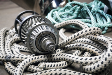 Boat  gears and ropes