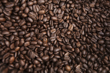 fresh natural coffee beans texture background