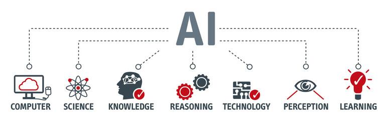 Banner Artificial intelligence vector illustration