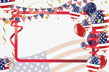 Labor day sale promotion advertising banner template. American labor day wallpaper.voucher discount