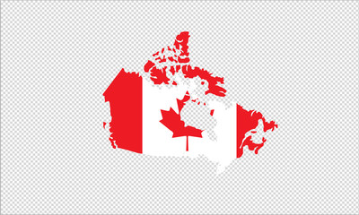 Canada outline map national borders country shape state