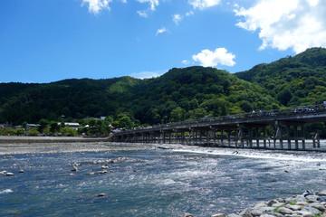 日本 京都 嵐山 桂川 渡月橋 Japan Kyoto Arashiyama Katsuragawa Togetsu Bridge