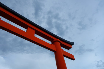 日本 京都 赤い鳥居 Japan Kyoto red torii gate