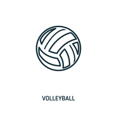 Volleyball creative icon. Simple element illustration. Volleyball concept symbol design from beach icon collection. Can be used for web, mobile and print. web design, apps, software, print.