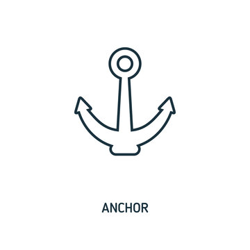 Anchor creative icon. Simple element illustration. Anchor concept symbol design from beach icon collection. Can be used for web, mobile and print. web design, apps, software, print.
