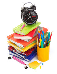 office and school supplies isolated at white background