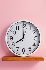 wall clock at abstract background