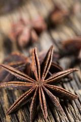 Badian, anise close-up