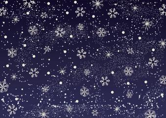 雪の結晶 星空