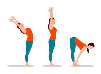 Yoga Collection Woman Set Vector Illustration